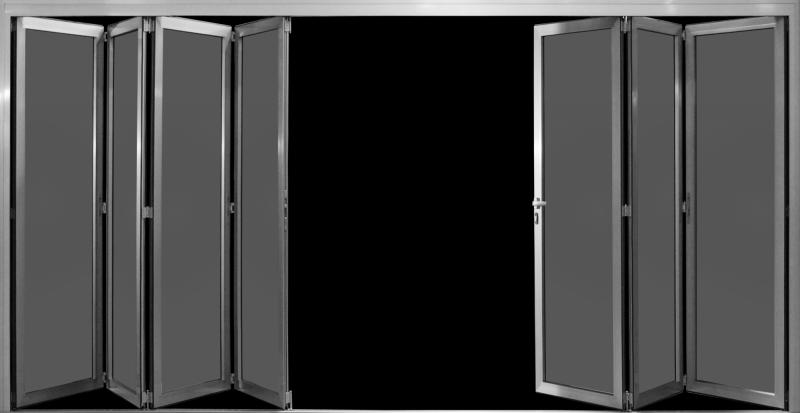 Cerramiento de puertas plegables