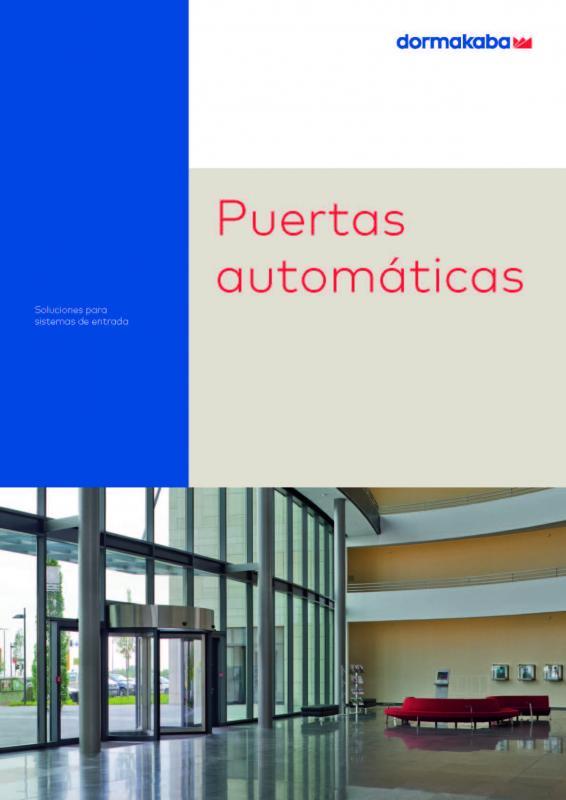 Catálogo puertas automáticas DORMAKABA