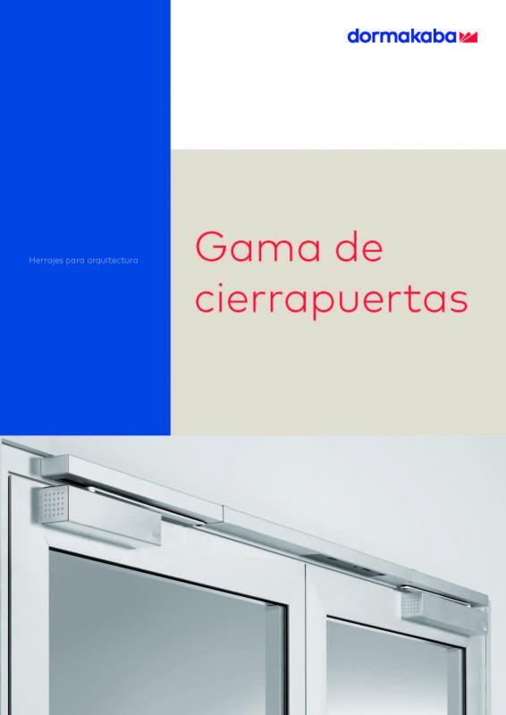 Catálogo cierrapuertas DORMAKABA
