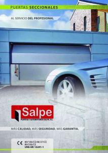SALPE - PUERTAS SECCIONALES